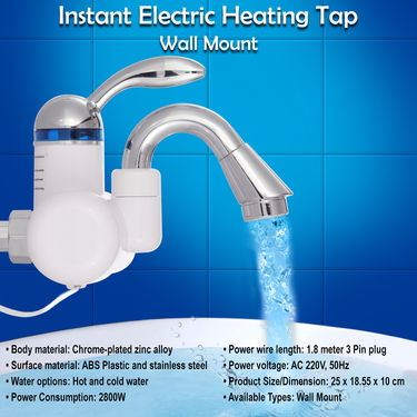 Instant Electric Heating Tap - Wall Mount
