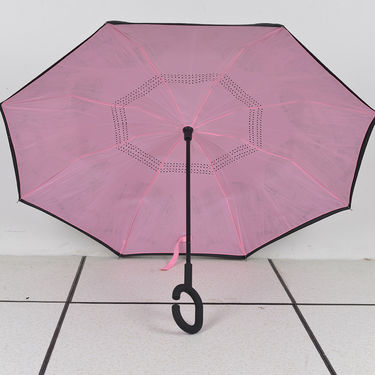 Inverted Magic Umbrella with C-Shaped Handle