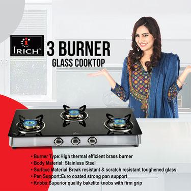 Irich 3 Burner Glass Cooktop