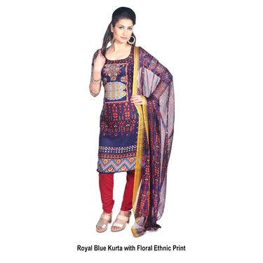Ishita Pack of 7 Printed French Crepe Dress Material by Pakhi (7FCDM4)