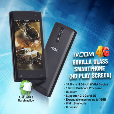 Ivoomi 4G Gorilla Glass Smarphone (HD Play Screen)