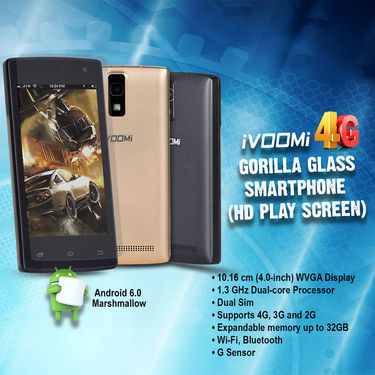 Ivoomi 4G Gorilla Glass Smartphone (HD Play Screen)