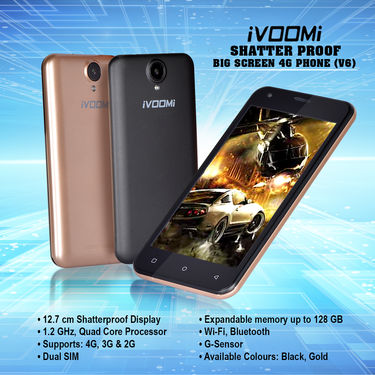 Ivoomi Shatter Proof Big Screen 4G Phone (V6)