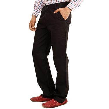 Pack of 2 Cotton Regular Fit Chinos_J115 - Black & Dark Brown