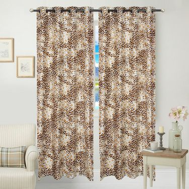 JBG Home Store Set of 2 Beautiful Design Door Curtains-JBG910_1BCD