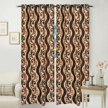 JBG Home Store Set of 2 Beautiful Design Door Curtains-JBG923_1BZD
