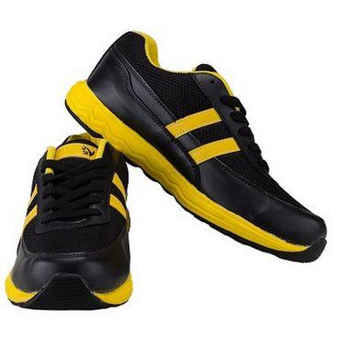 V22 Energy Jogger Shoes  Black & Yellow Size - 8