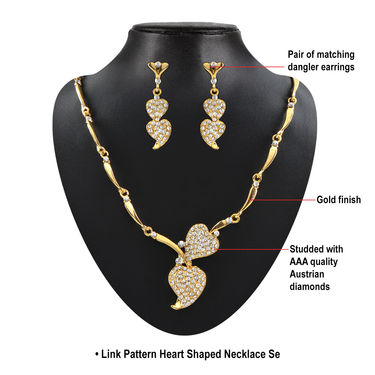 Jessica Dazzling Austrian Diamond Jewellery Collection with Pack of 3 Pendant Set