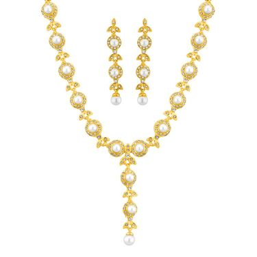 Jpearls Cz Pearl Necklace Set - JPNOV-14-145