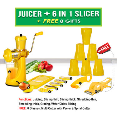 Juicer + 6 in 1 Slicer + Free 8 Gifts NT5