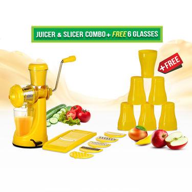 Juicer & Slicer Combo + Free 6 Glasses
