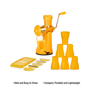 Juicer & Slicer Combo + Free 6 Glasses