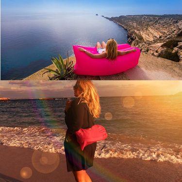 Kawachi Inflatable Portable Sofa For Camping, Hiking, Beach Activities - Pink