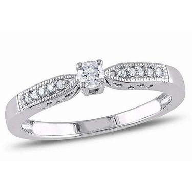 Kiara Swarovski Signity Sterling Silver Poonam Ring_Kir0735 - Silver