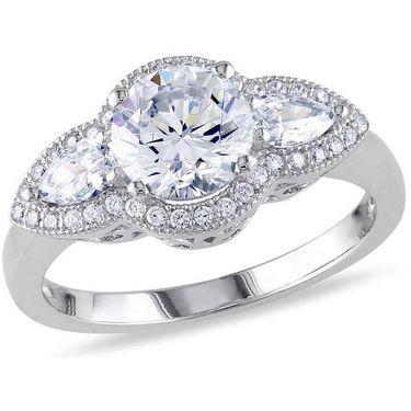 Kiara Swarovski Signity Sterling Silver Krutika Ring_Kir0750 - Silver