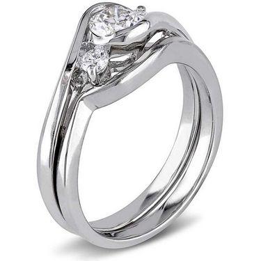 Kiara Swarovski Signity Sterling Silver Payal Ring_Kir0801 - Silver