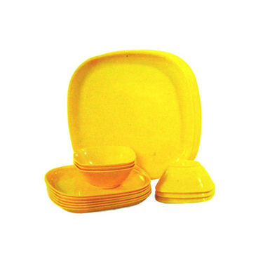 18 Pcs Microwave Cookware / Dinner Set Square Shape