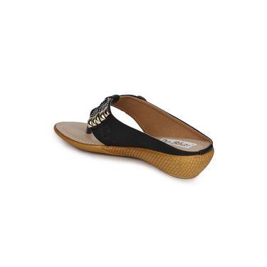 Do Bhai Faux Leather Sandals KM-1388-Black