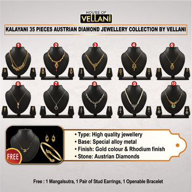 Kalayani 35 Pieces Austrian Diamond Jewellery Collection by Vellani