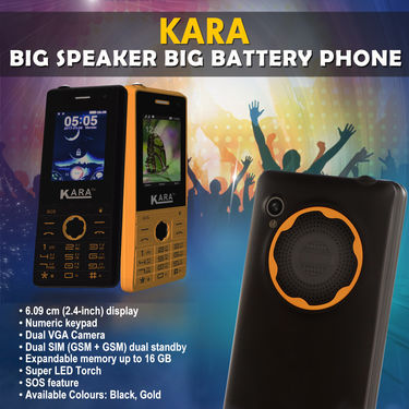 Kara Big Speaker Big Battery Phone