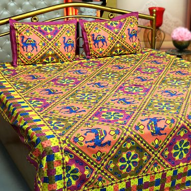 ... Katha 3 Double U0026 3 Single Handmade Cotton Bedsheets ...