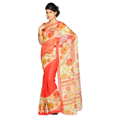 Kavita Collection of 7 Printed Kota Doria Sarees by Pakhi (7K11) with 7 Free Jewellery