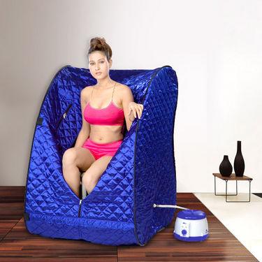 Kawachi Portable Steam Sauna Bath - Blue