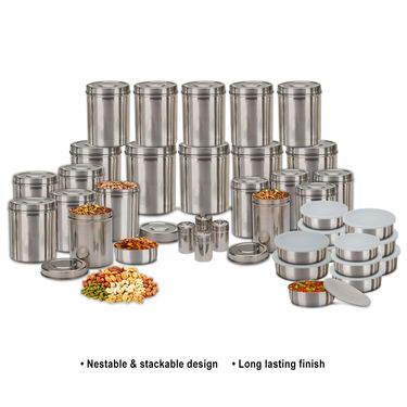 buy kitchen cooks 70 pcs stainless steel storage set