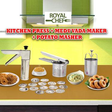 Kitchen Press + Medu Vada Maker + Potato Masher