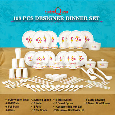 Buy 108 Pcs Designer Dinner Set Online At Best Price In India On