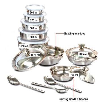 Buy Kitchen Queen 43 Pcs Coloured Stainless Steel Storage Set Online