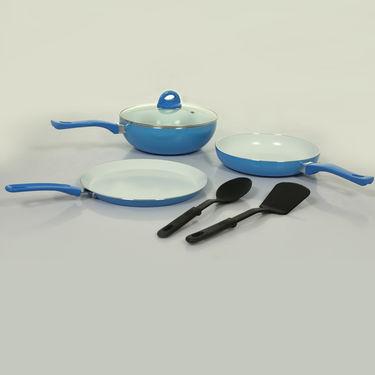 6 Pcs Ceramic Coated Colourful Cookware Set