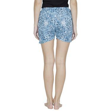 Klamotten Cotton Plain Shorts - Blue - Ks09_Tgr_Blu