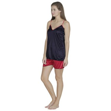 Set of 2 Klamotten Satin Plain Top and Shorts