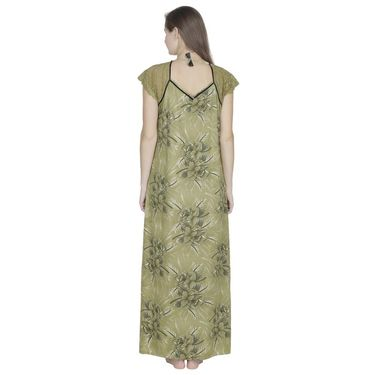 Klamotten Cotton Printed Nighty - Green - X108_Pr_Grn