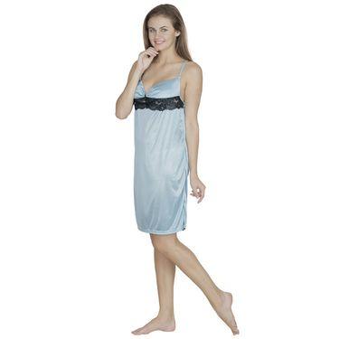 Klamotten Satin Plain Nightwear - Light Green - X36_Sea