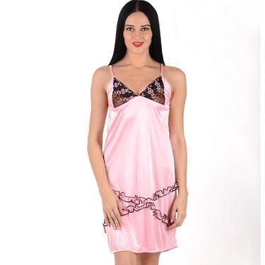 Klamotten Satin Plain Nightwear - Pink - YY02
