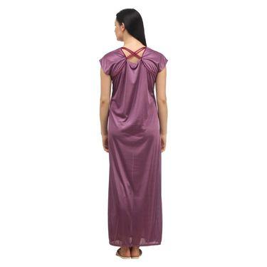 Klamotten Satin Plain Nightwear - Purple - YY11