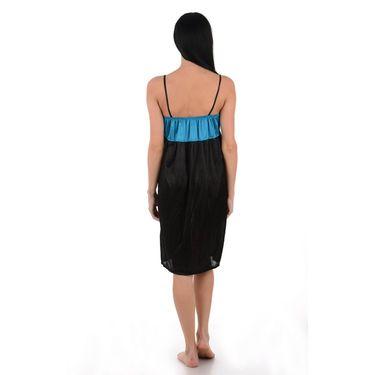 Klamotten Satin Plain Nightwear - Black - YY31