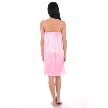 Klamotten Satin Plain Nightwear - Pink - YY36