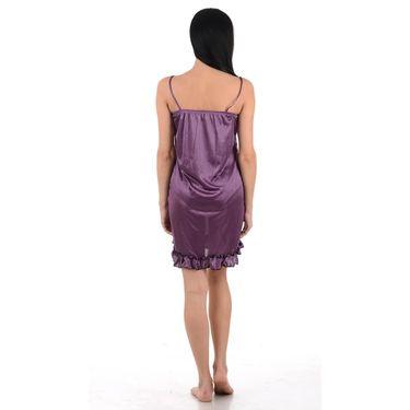 Klamotten Satin Plain Nightwear - Purple - YY43