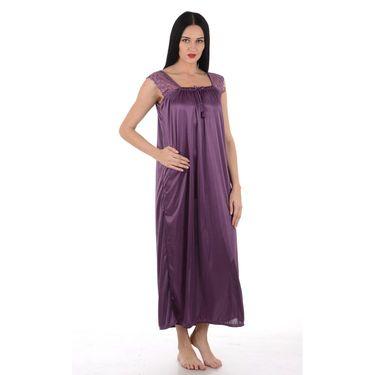 Klamotten Satin Plain Nightwear - Purple - YY48