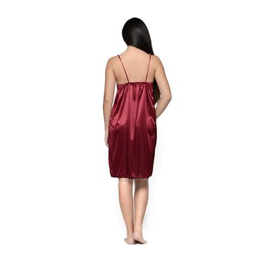 Klamotten Satin Plain Nightwear - Red - YY63