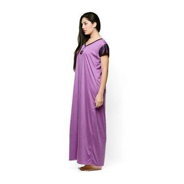 Klamotten Cotton Plain Nightwear - Purple - YY64