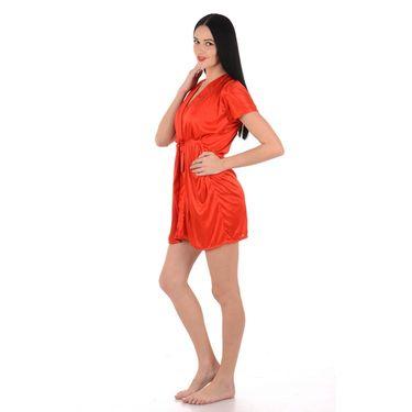 Klamotten Satin Plain Robe - Orange - YY68