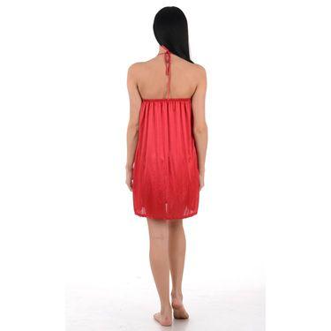 Klamotten Satin Plain Nightwear - Red - YY78