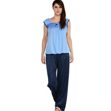 Klamotten Cotton Plain Nightwear - Blue - YY82