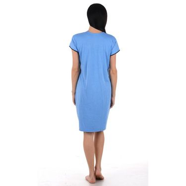 Klamotten Cotton Plain Nightwear - Blue - YY88