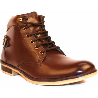 Kohinoor Faux Leather Boots - Brown-3749