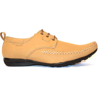 Designer Casual Shoes for Men - Tan-3742